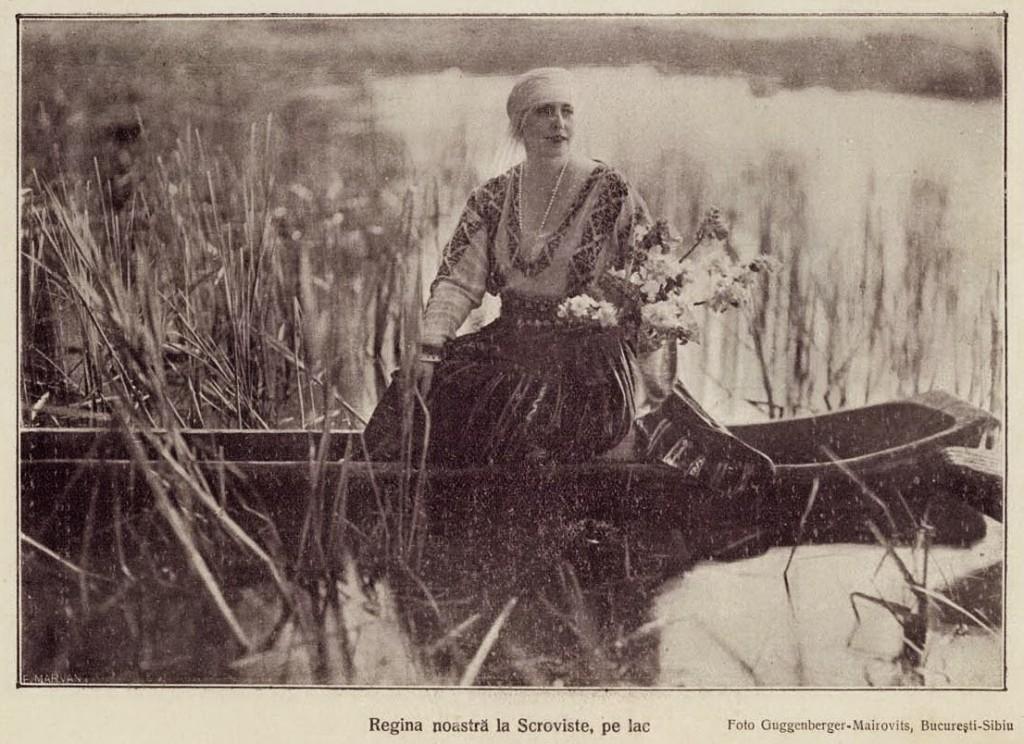 1926 Regina Maria pe lac la Scrovistea